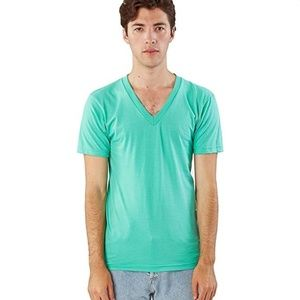 NEW American Apparel Mint Unisex Summer Shirt